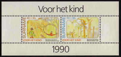Surinam / Suriname 1990 Childcare  in nature kinder in natur enfent MNH S/S