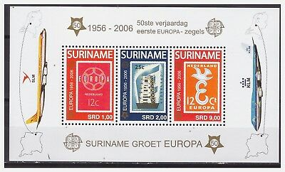 Surinam / Suriname 2006 50 Year europe stamps cept S/S MNH