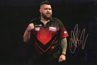 Michael Smith, PDC darts, signed 12x8 inch photo. COA. Proof.