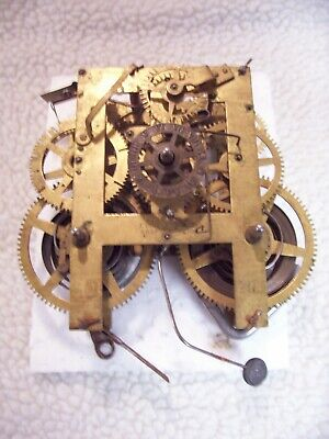 E. Ingraham 8 day back mount mantel clock movement for parts or repair
