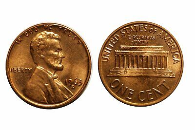 1963-D/D  Lincoln Cent - RPM-003 #3  Choice bu Red  #225