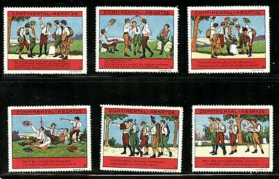Poster Stamp ~1913 Germany Boys Club Exploring Boy Scouts Continental Shoe heels