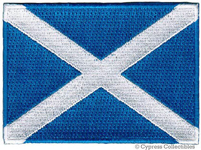 Scotland National Flag Patch Scottish Embroidered Iron-On St. Andrews Cross