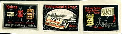 Poster Stamp ~1913 Germany Mainz Soap Noodles Hochgesand&ampt