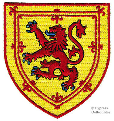 SCOTLAND COAT OF ARMS iron-on PATCH SCOTTISH LION RAMPANT FLAG SHIELD EMBLEM