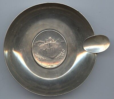 Banco De MEXICO Sterling SILVER Ash Tray 1934 Mint MEDAL Insert