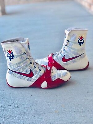 495e43d5a16c Rare Nike Manny Pacquiao Hyperko MP Trainer Boxing Shoes Boots Size 8.5