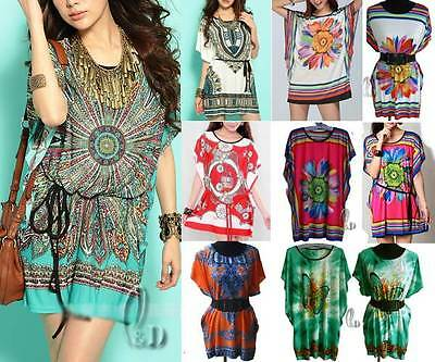 Wholesale Bulk Lot Of 10 Mixed Style Tunic Kaftan Top/Beach Cover Au Seller T008