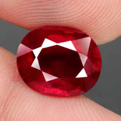 8.4 Ct. Oval Facet Big Natural Ruby Top Blood Red Madagascar Gorgeous