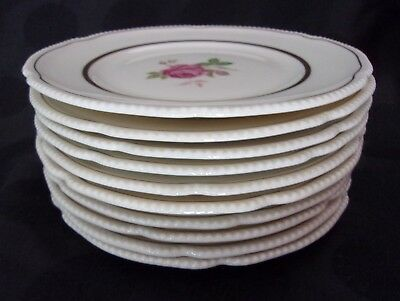 """Dolly Madison Castleton China Set Of 10 Bread & Butter Plates, Mint 6 1/2"""""""