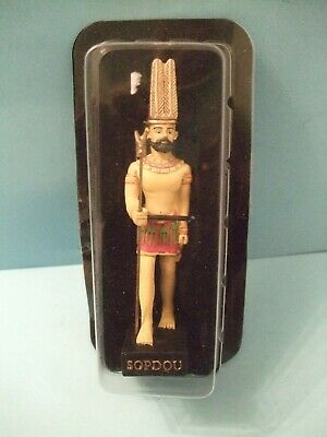 Ancient Egypt Egyptian God  figurines resin statue SOPDOU size 5in by HACHETTE