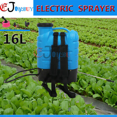 12V 16L Electric Rechargeable Weed Sprayer Garden Backpack Farm Pump Spray