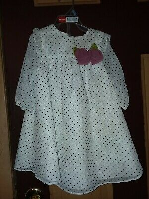 9aa780ed42b Marmellata Baby Toddler Girl Polka Dot Bib Dress 24 mon white black Maroon  Rose