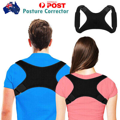 Adjustable Posture Corrector Back Support Shoulder Brace Belt Men Women Strap AU