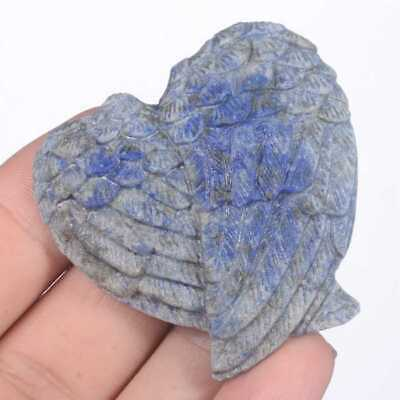 """1.81"""" NaturalLapis Lazuli Carved Angel Wings Collectibles #27N25"""