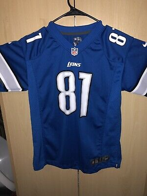 6e76956a CALVIN JOHNSON DETROIT Lions NFL Players Nike Black Jersey Youth ...