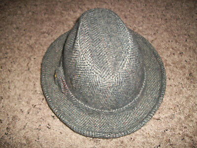 3ca347492a90c VTG PENDLETON 100% Virgin Wool Tweet Fedora Hat Portland Oregon USA SZ 71/8