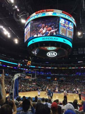 2 TICKETS INDIANA PACERS @ LA CLIPPERS 3/19 *BASELINE FLOOR Row G AISLE*