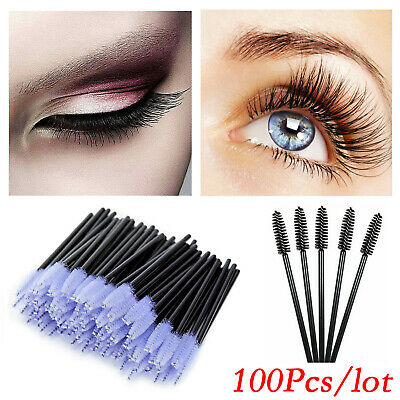 Disposable Mini Eyelash Lash Makeup Brush Wand Mascara Wands Applicator 100 PCS