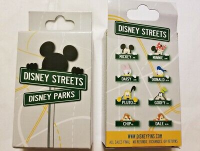 Disney Collectible Pin Pack DISNEY STREET SIGNS Mystery Box of 2 Pins Sealed NEW