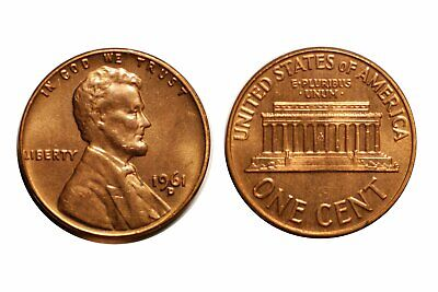 1961-D  Lincoln Cent - CONECA RPM-047  #47  Choice BU Red  #233