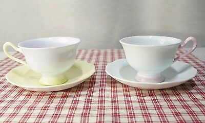 Lot of 2 Tea Cup & Saucer SETS  Royal Albert PASTELLA  Avon Shape EXC+
