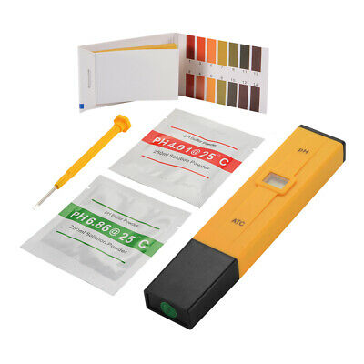 Manually Adjustable pH Meter Digital Tester with PH Range 0-14 Test Paper TH925