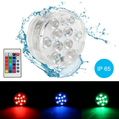 Waterproof Submersible 10LED Light RGB Lamp for Vase Party Swimming Pool LD1428