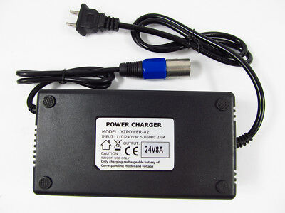 24 Volt 8 Amp for Mobility Scooter Battery Charger 24v 7a 8a Connect and Forget