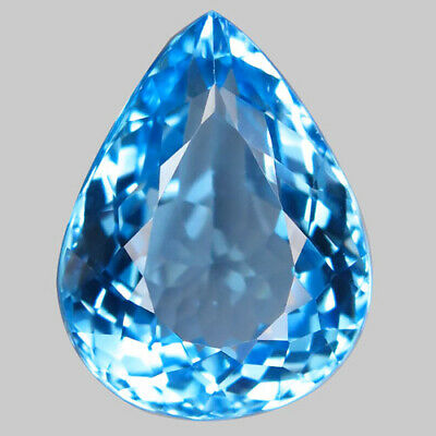 33.02ct.Top Sky Blue Topaz 100%Natural (Brazil) Pear Shape Facet 22x17mm.AAA Nr.