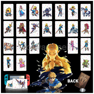 22Full Set NFC PVC Tag Card ZELDA BREATH OF THE WILD WOLF LINK Fit amiibo Switch