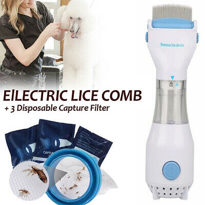 Electric Lice zapper Electronic Head Nit Pro V-comb Kills Pet Headlice EU/US