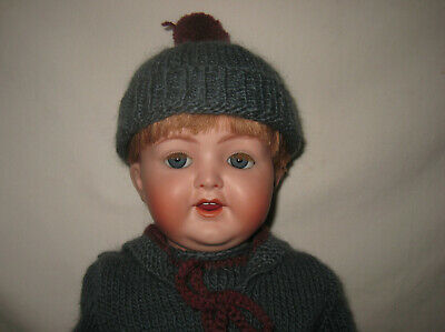 "Artist Reproduction Antique 19"" K*R Simon & Halbig Bisque Head Baby Doll 126 MH3"