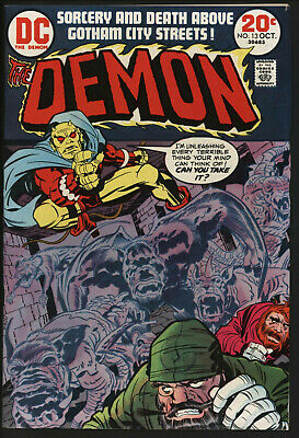 Demon #13 Oct 1973 Jack Kirby Cover And Art. White Pages