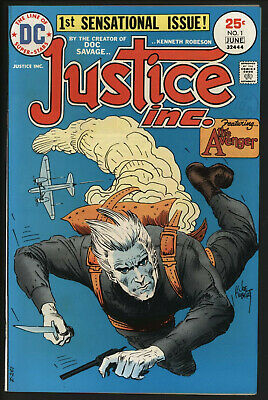 Justice Inc. #1 Jun 1975 White Pages, Very High Grade