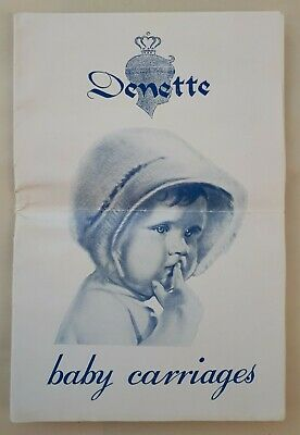 c1960 Edition. DENETTE Baby Carriages Catalogue. Prams/ Pushchairs/ Strollers