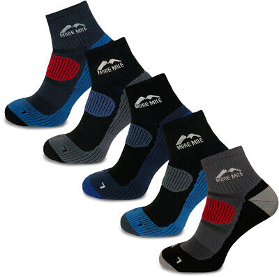 5 Pair Pack More Mile Cushioned Trail Padded Running Sports Socks Mens Womens
