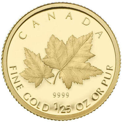 Maple Leaves - 2009 Canada 50-cent 1/25th oz. Gold Coin
