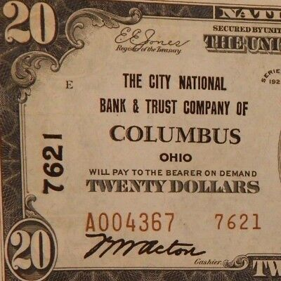 1929-City Natl Bank & Trust Co.-Columbus, OH-$20 Natl Currency-T2- #7621 - #689Z
