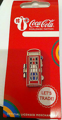 London 2012 Olympic Coca Cola Welcome To The Games Pin Netherlands Telephone Box
