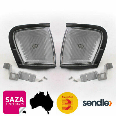 Pair of Front White Corner Indicator Lights for Holden Rodeo TF 1997-2003