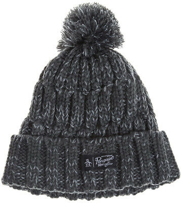160bfd18861 Original Penguin Bobble Beanie Winter Knit Hat Mens Womens Designer Fashion