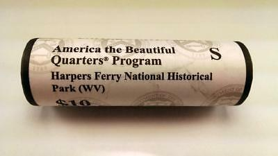 2016 S Harpers Ferry, Wv - America The Beautiful $10 Us Mint Quarter Roll