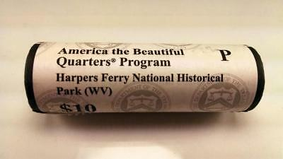 2016 P Harpers Ferry, Wv - America The Beautiful $10 Us Mint Quarter Roll