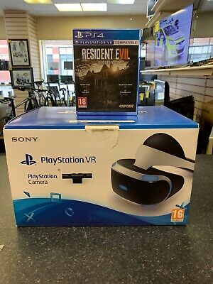 PS4 VR Headset CUH-ZVR1 With Play Camera & Resident Evil Biohazard VR