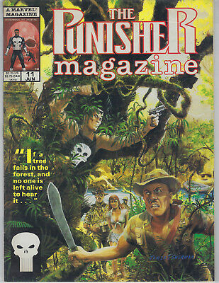 """""""The Punisher"""" Magazine/comic No11 Jun 90 by Marvel (for the older reader)"""