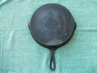 NATIONAL #9 ARCH LOGO CAST IRON SKILLET with STAR MARK HEAT RING GRISWOLD WAGNER