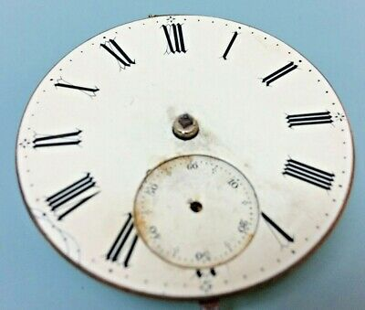 "Antique ""fusee"" Pocket Watch Movement Circa 1850 For Restoration"
