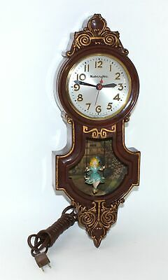MASTERCRAFTERS GIRL SWINGER WALL CLOCK - PARTS or REPAIR - WR134