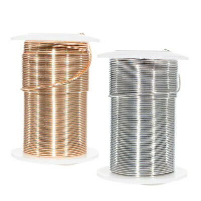 Craft County Tarnish Resistant Copper Craft Wire in Gold or Silver - Many Sizes